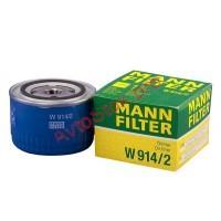 W 914/2 Фильтр масляный ВАЗ 2101-2107 2108-09 (низкий 69мм) (пр-во MANN)