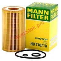 MANN-FILTER HU718/1K Фильтрующий элемент масляного фильтра MB - SPRINTER, VITO
